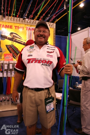Preston Clark with Stick Jackets at ICAST 2008
