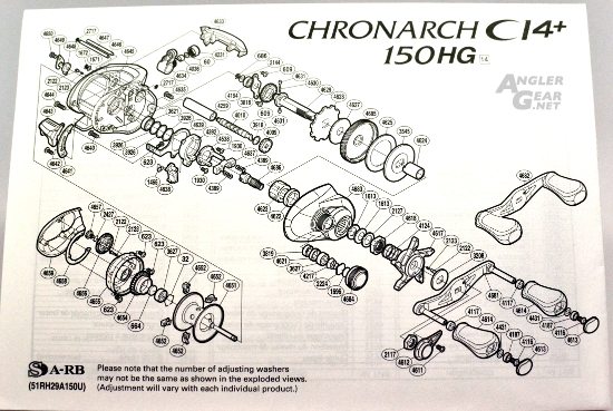 Chronarch_CI4+_150HG_Parts_Diagram
